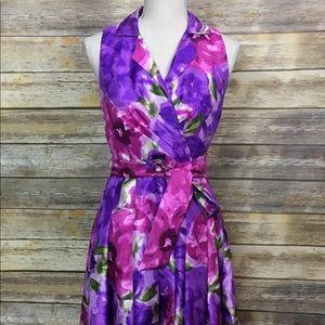 DressBarn Sleeveless Floral Dress, Size 4